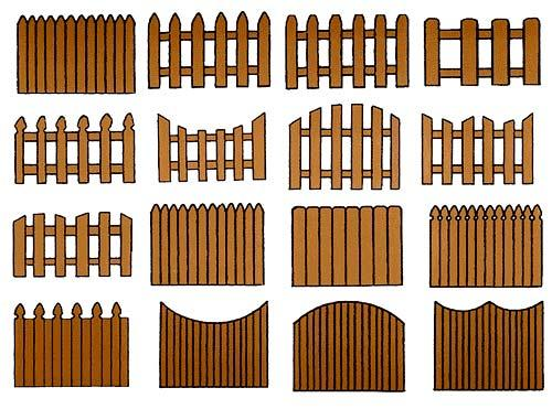 Заборы с дерева чертежи и ход работы