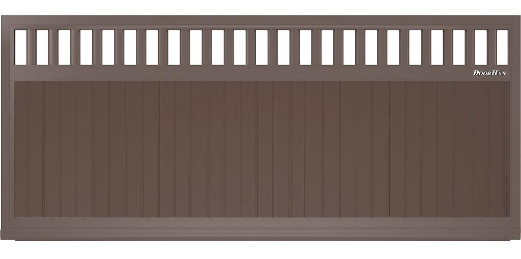 Щит решетчатый с вертикальным расположением сэндвич-панелей