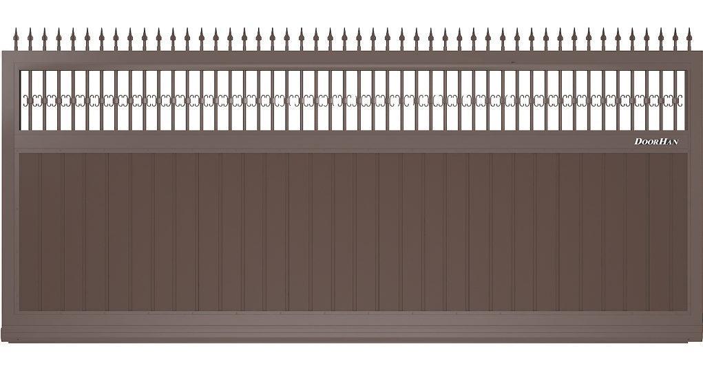 Щит с вензелями и пиками с вертикальным расположением сэндвич-панелей