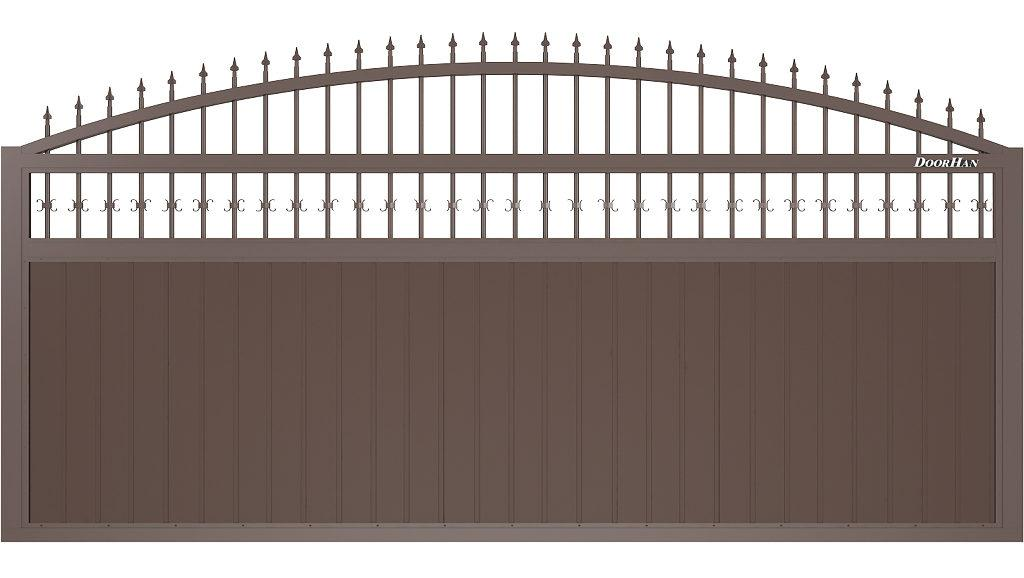 Щит арочный с пиками с вертикальным расположением сэндвич-панелей
