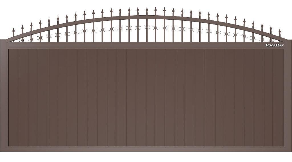 Щит арочный с пиками и вензелями с вертикальным расположением сэндвич-панелей